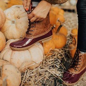 Shoes - Wine Waterproof Duck Boots